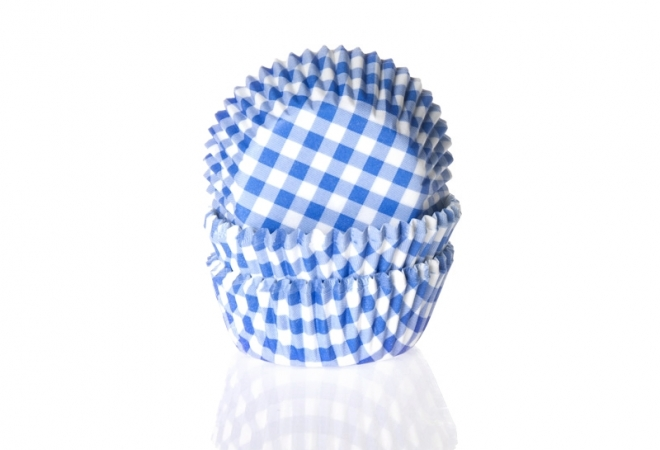 Mini Baking cup  ruit  blauw 35x22.5 mm
