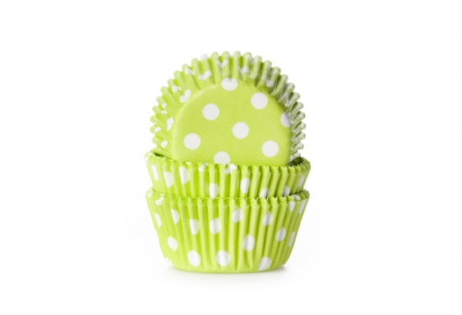 MINI baking cup stip lime 35x23 mm
