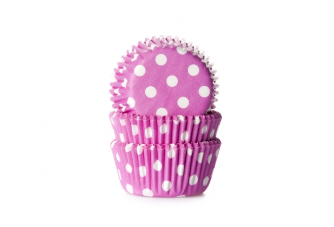 MINI baking cup stip roze 35x23 mm