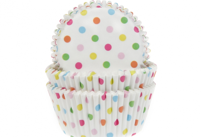 Baking cup Confetti 50x33 mm