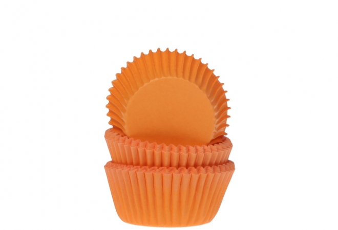 Mini baking cups effen oranje 35x22,5mm
