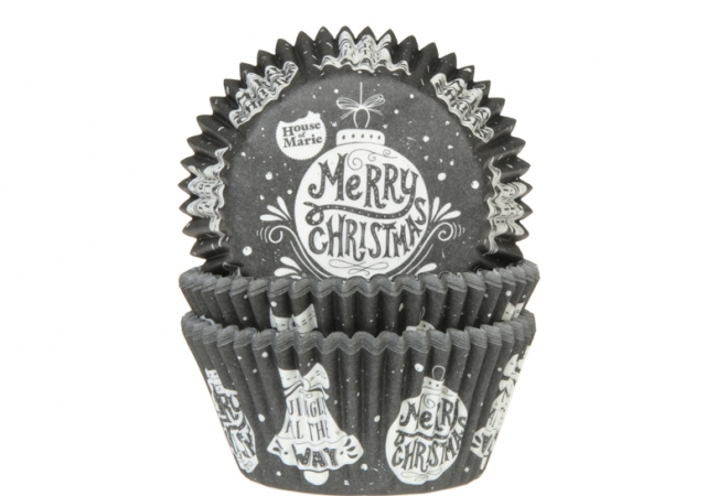 Baking cups Schoolbord Christmas 50x33mm