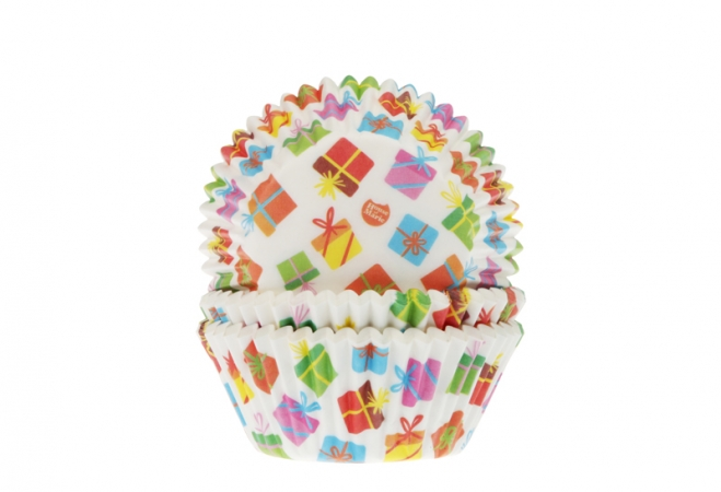 Baking cups Presents 50x33mm