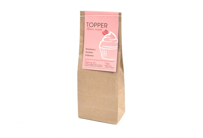 Home made Topper Aardbei 250gr