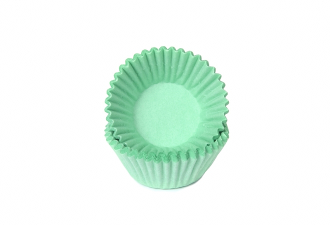 baking cups chocolade/petit four 25x19mm mint