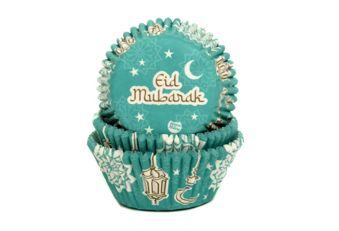 Baking cups Eid Mubarak 50x33mm