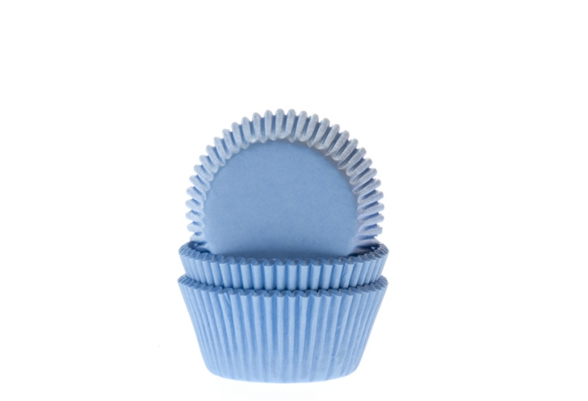 Bulk MINI Baking case effen licht blauw 35x22.5 mm