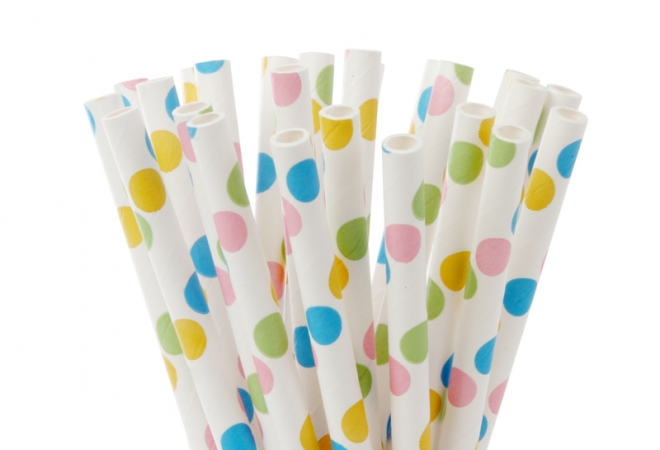 Cakepop paper straws Fancy dots