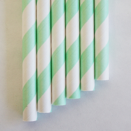 Outlet paper straws mint